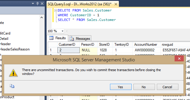Prevent accidental table data deletion in sql server - How to find a table in sql server management studio ...