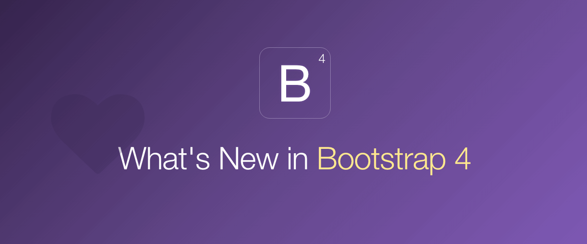 New Bootstrap 4